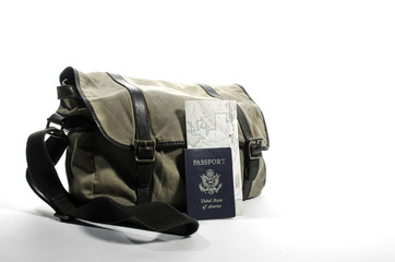 Messenger bag with passport