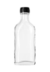 Glass bottle (with clipping path) isolated on white background