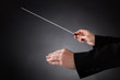 Female Orchestra Conductor With Baton