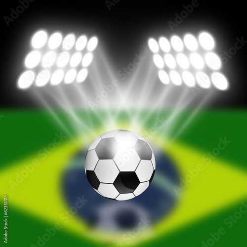 soccer ball with spotlight