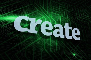 Create against green and black circuit board