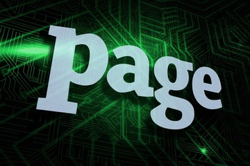 Page against green and black circuit board