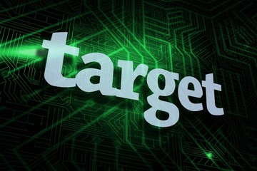 Target against green and black circuit board