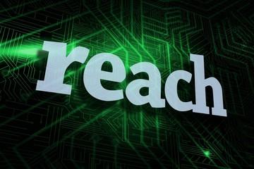 Reach against green and black circuit board