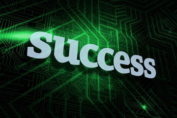 Success against green and black circuit board