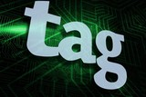Tag against green and black circuit board