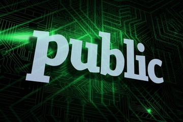 Public against green and black circuit board
