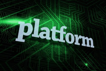 Platform against green and black circuit board