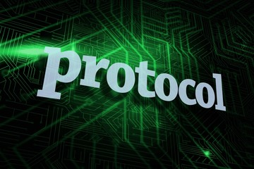 Protocol against green and black circuit board