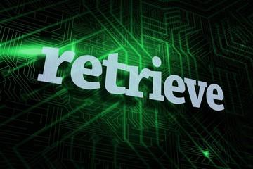 Retrieve against green and black circuit board