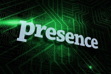 Presence against green and black circuit board