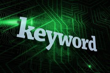 Keyword against green and black circuit board