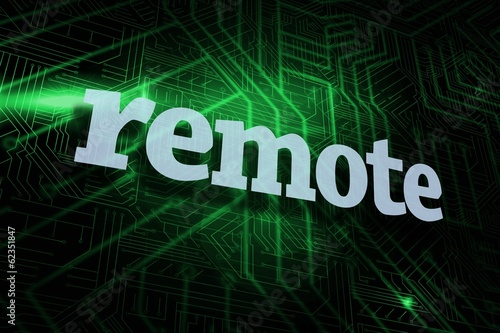 Remote against green and black circuit board