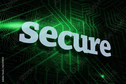 Secure against green and black circuit board