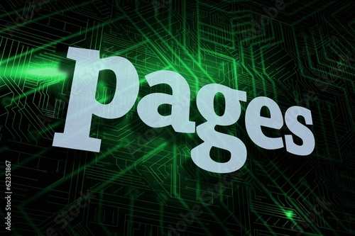 Pages against green and black circuit board