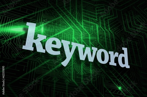 Keyword against green and black circuit board