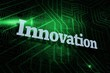Innovation against green and black circuit board
