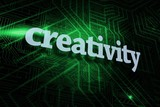 Creativity against green and black circuit board