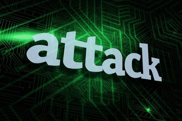 Attack against green and black circuit board