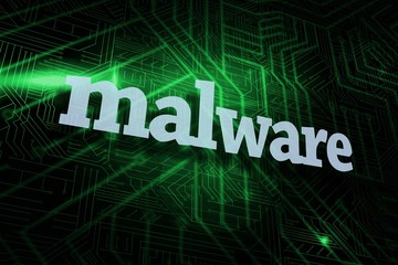 Malware against green and black circuit board