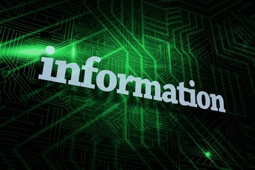 Information against green and black circuit board
