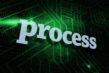 Process against green and black circuit board