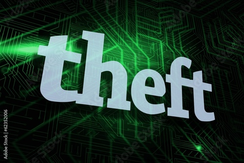 Theft against green and black circuit board