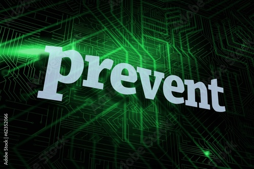 Prevent against green and black circuit board