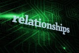 Relationships against green and black circuit board