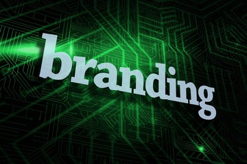 Branding against green and black circuit board