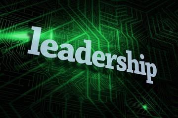 Leadership against green and black circuit board