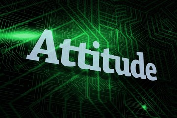 Attitude against green and black circuit board