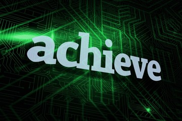 Achieve against green and black circuit board