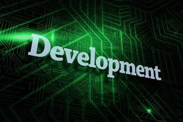 Development against green and black circuit board
