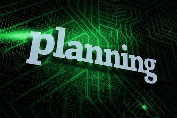 Planning against green and black circuit board
