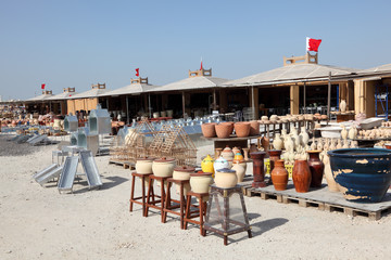 Pottery market in A'Ali, Bahrain, Middle East