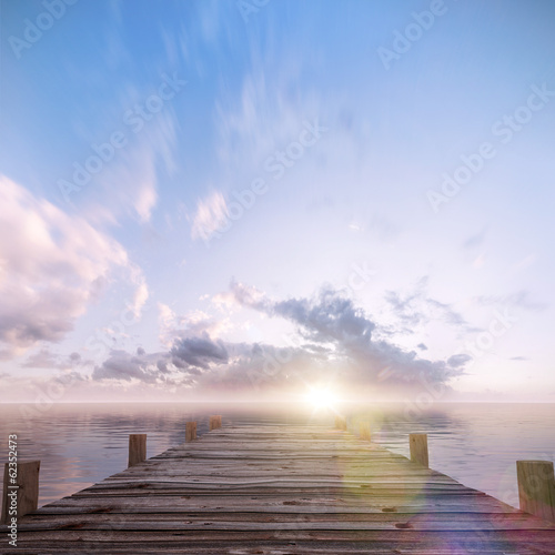 canvas print picture Abends am Meer