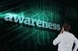 Awareness against green and black circuit board