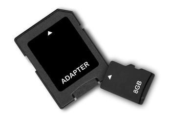 SD Speicher Adapter und Micro SD Karte