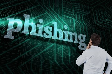 Phishing against green and black circuit board
