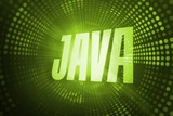 Java against green pixel spiral