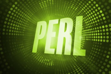 Perl against green pixel spiral