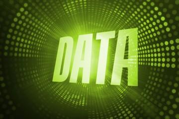 Data against green pixel spiral