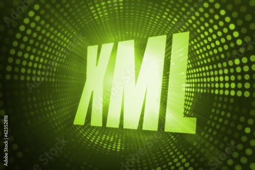 Xml against green pixel spiral