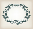 vintage border frame ornament calligraphy  vector