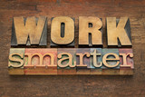 work smarter advice in wood type