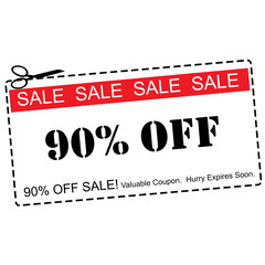 Ninety Percent Off Sale Coupon