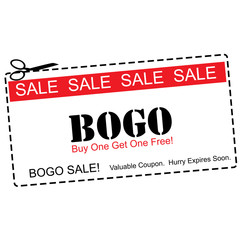 BOGO Buy One Get ne Free Sale Coupon