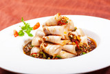 Chinese dishes. Sliced ​​pork