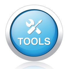 tools glossy icon on white background